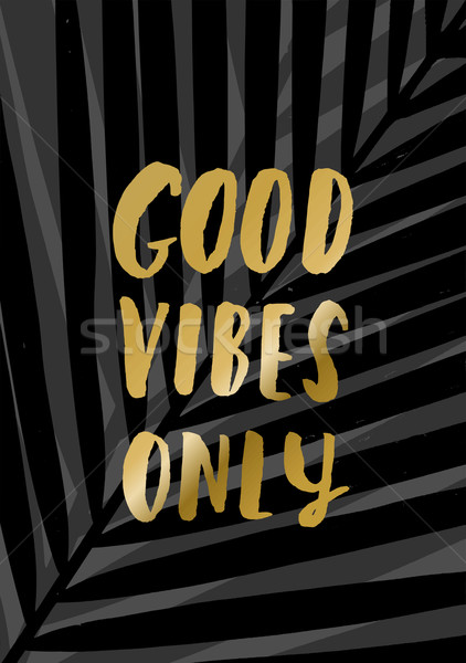 Good Vibes Only Stock photo © ivaleksa