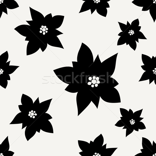 Poinsettias Seamless Pattern Stock photo © ivaleksa