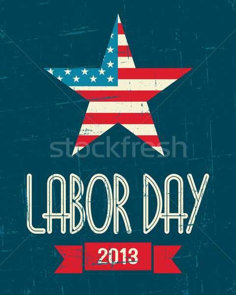 American Labor Day Poster Stock photo © ivaleksa