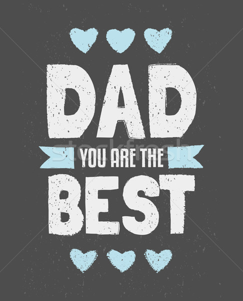 Stock photo: Father's Day Greeting Card