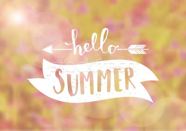 Blurred Background Typographic Summer Design Stock photo © ivaleksa
