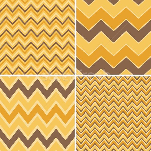 Seamless Chevron Patterns Collection Stock photo © ivaleksa
