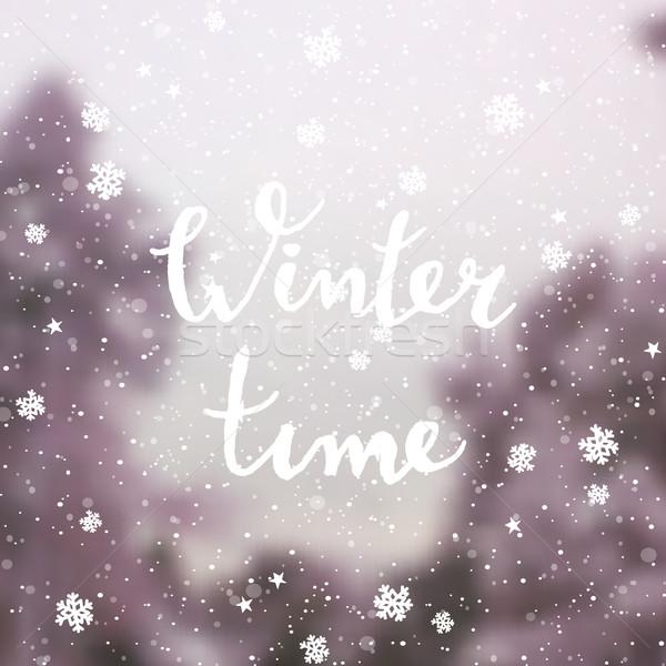 クリスマス グリーティングカード テンプレート デザイン 冬 ストックフォト © ivaleksa