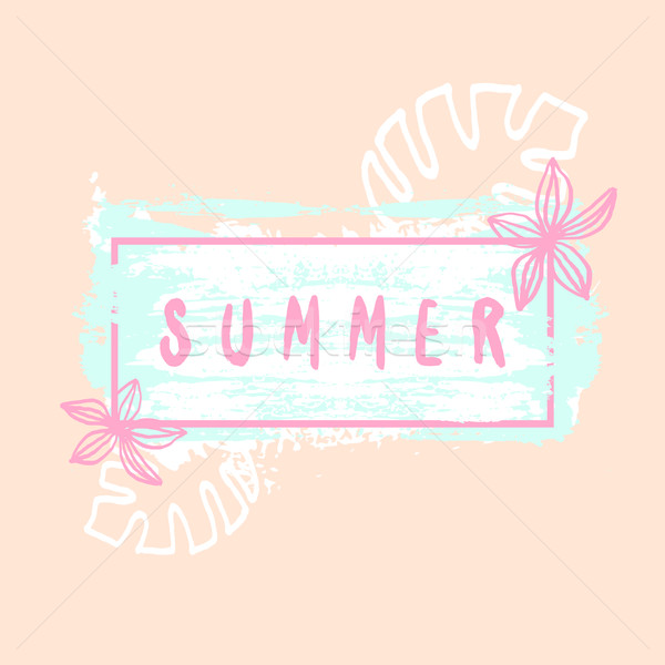 夏 ポスター デザイン 手描き ストックフォト © ivaleksa