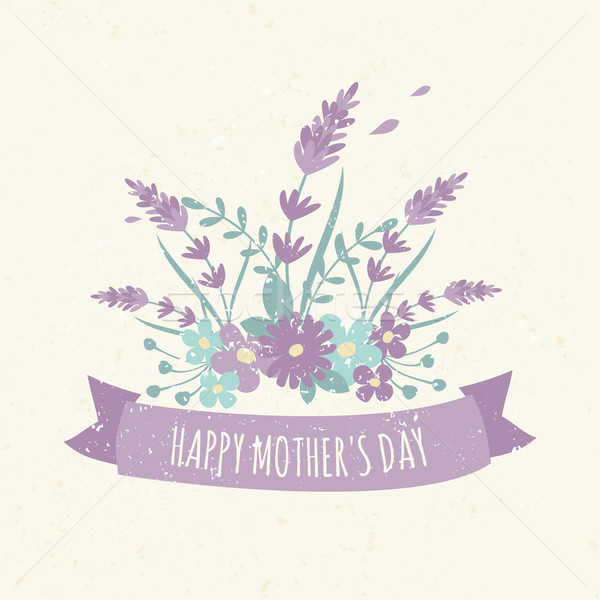 Floral Design Mother's Day Greeting Card Stock photo © ivaleksa