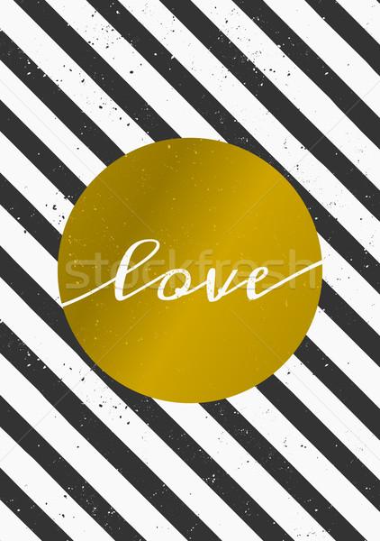 Kartkę z życzeniami szablon elegancki nowoczesne wektora złoty Zdjęcia stock © ivaleksa
