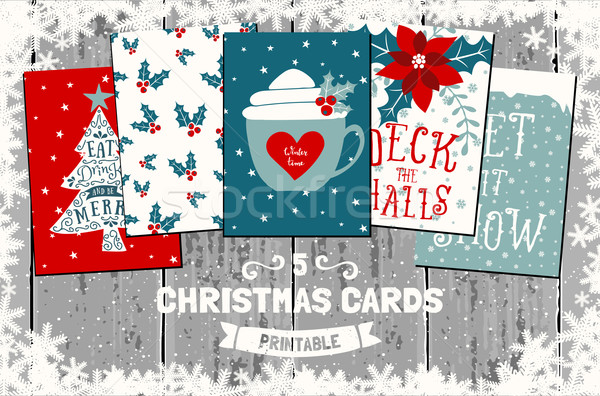 Christmas Greeting Cards Collection Stock photo © ivaleksa