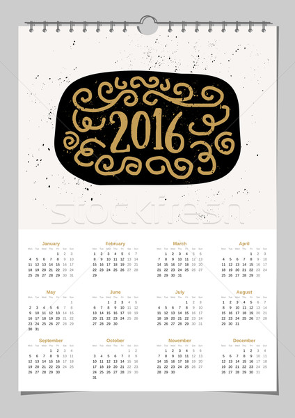 2016 Calendar Template Stock photo © ivaleksa
