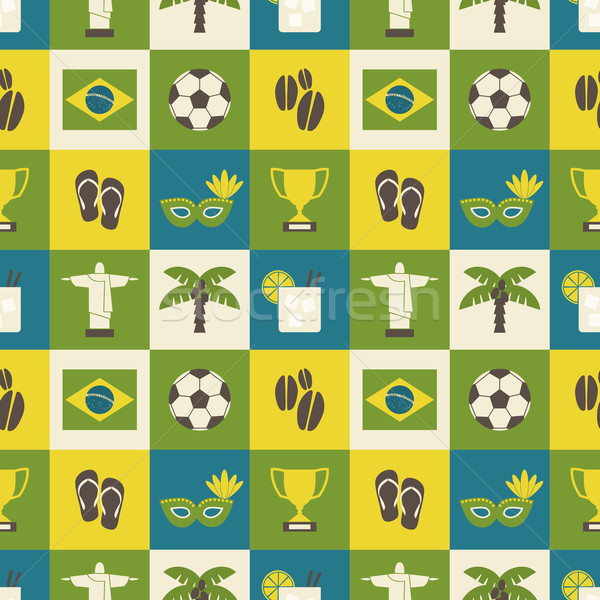 Seamless Brazil Background Stock photo © ivaleksa