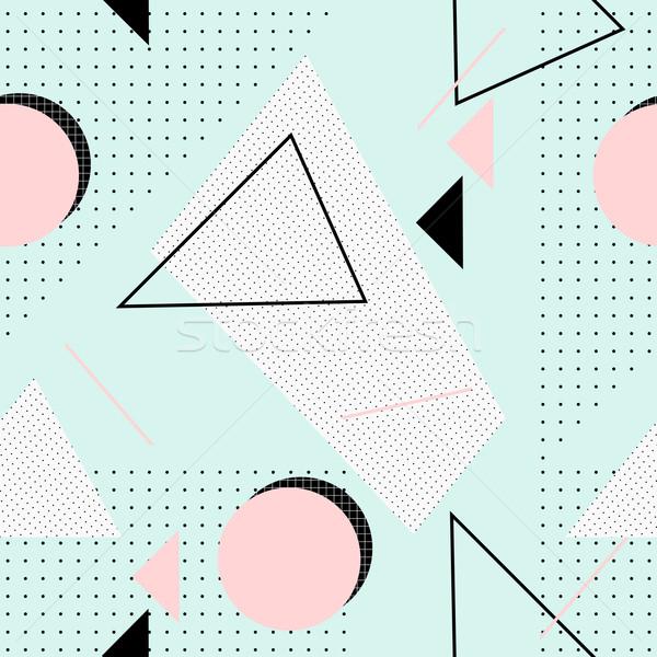 レトロな 幾何学模様 シームレス パターン 幾何学的な ストックフォト © ivaleksa