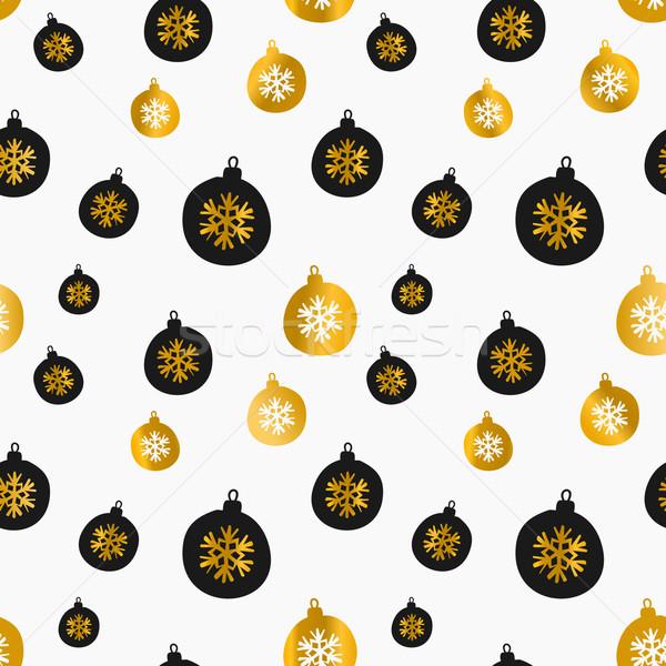 Foto stock: Natal · estilo · retro · sem · costura · teste · padrão · do · natal · preto