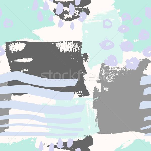 Abstrato mão pintado Foto stock © ivaleksa
