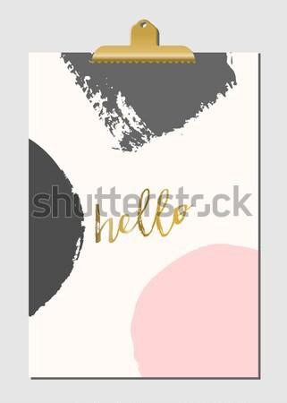 抽象的な ポスター デザイン 現代 スタイリッシュ ストックフォト © ivaleksa