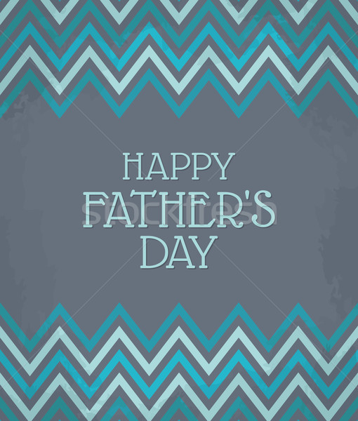 Chevron Pattern Father's Day Card Stock photo © ivaleksa