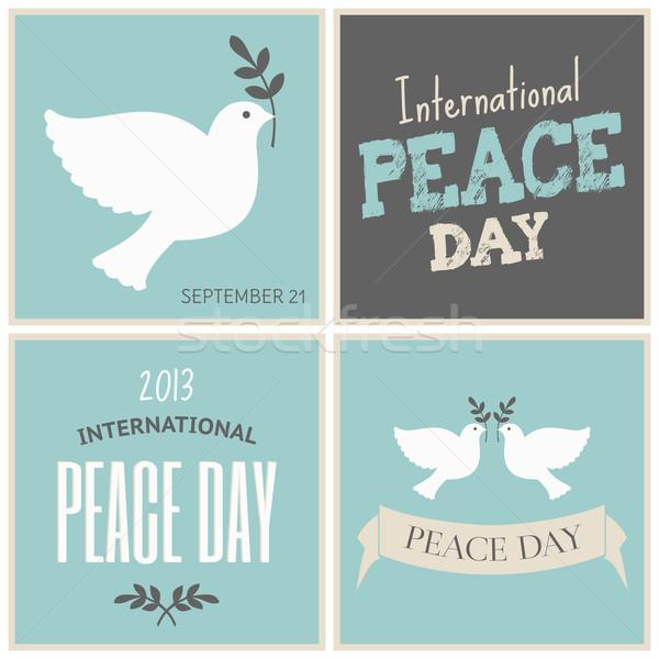 Pace giorno carte raccolta set quattro Foto d'archivio © ivaleksa