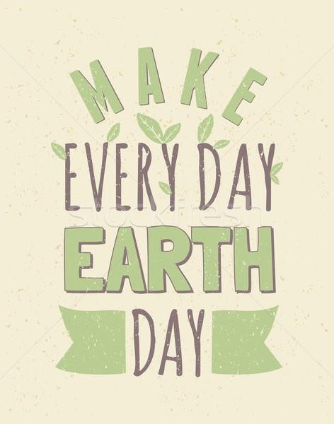 Earth Day Poster Stock photo © ivaleksa
