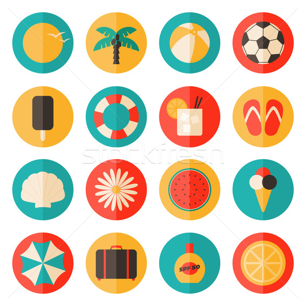 Summer Icons Collection Stock photo © ivaleksa