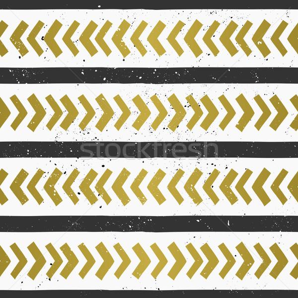 Stock photo: Hand Drawn Geometric Seamless Pattern