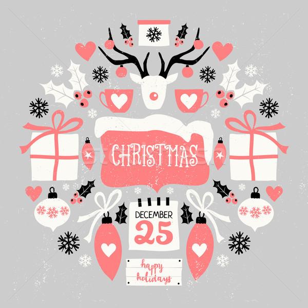 Christmas Symbols Composition Stock photo © ivaleksa