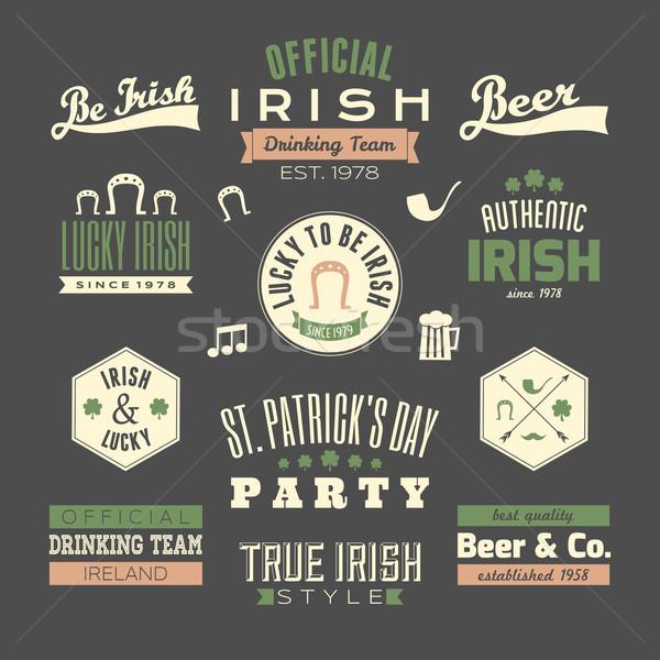 Photo stock: Jour · de · St · Patrick · design · ensemble · tableau