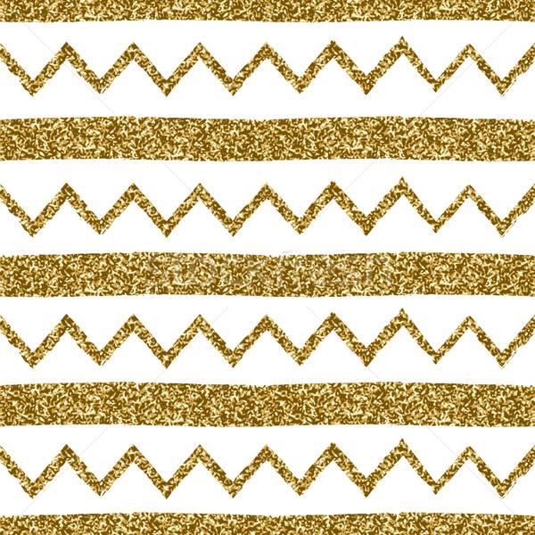 Seamless Chevron and Stripes Pattern Stock photo © ivaleksa