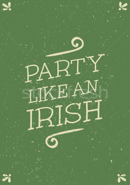 St Patrick's Day kaart typografisch stijl wenskaart Stockfoto © ivaleksa