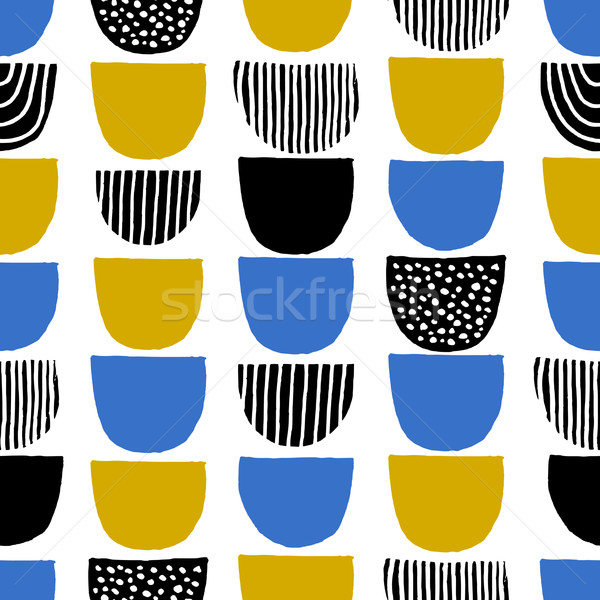 Hand Drawn Seamless Pattern Stock photo © ivaleksa
