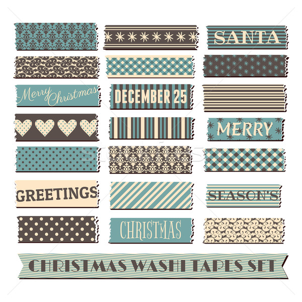 Christmas Washi Tape Collection Stock photo © ivaleksa