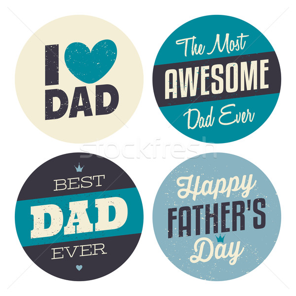 Father's Day Stickers Collection Stock photo © ivaleksa