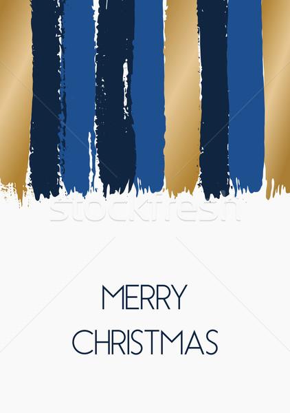 Joyeux Noël carte de vœux dessinés à la main modèle Photo stock © ivaleksa
