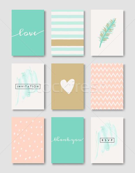 Romantic Wedding Cards Collection Stock photo © ivaleksa
