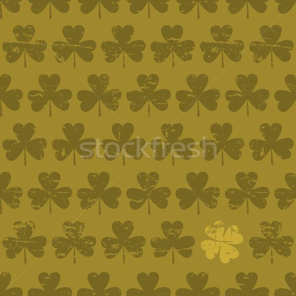 Jour de St Patrick sombre vert chanceux trèfle Photo stock © ivaleksa