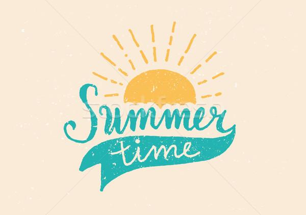 Summer Time Hand Lettered Design Stock photo © ivaleksa