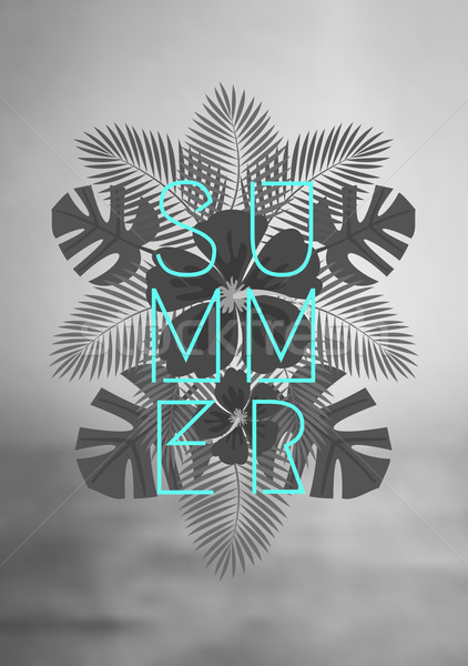 Geometric Style Summer Design Stock photo © ivaleksa