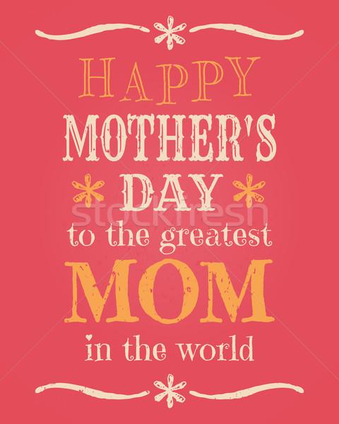 Moeders dag kaart wenskaart sjabloon bloem Stockfoto © ivaleksa