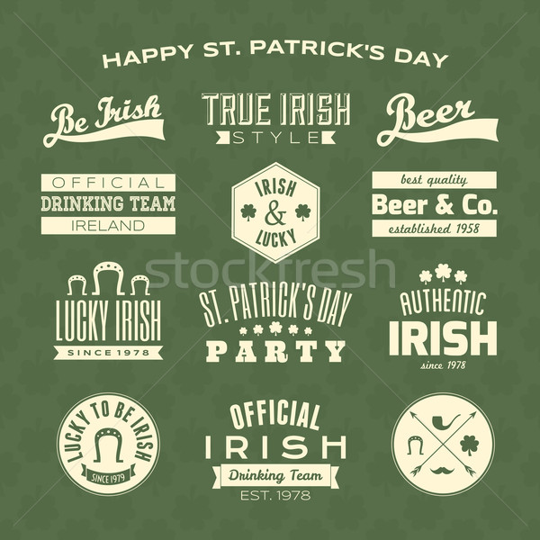 St. Patrick's Day Design Elements Collection Stock photo © ivaleksa