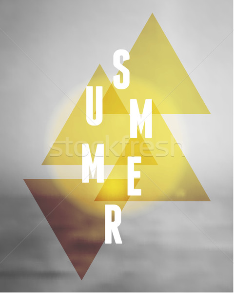 Abstract Geometric Summer Design Stock photo © ivaleksa