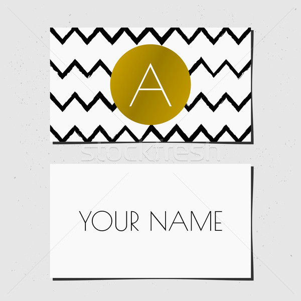 Business Card Template Stock photo © ivaleksa