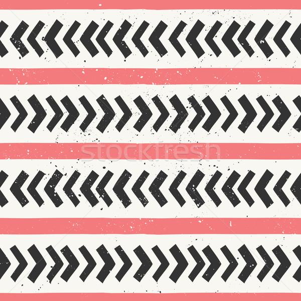 ストックフォト: 手描き · 抽象的な · スタイル · 幾何学的な
