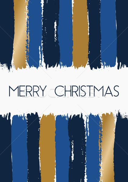 Photo stock: Joyeux · Noël · carte · de · vœux · dessinés · à · la · main · modèle