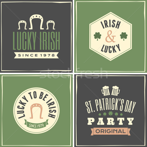St. Patrick's Day Cards Collection Stock photo © ivaleksa