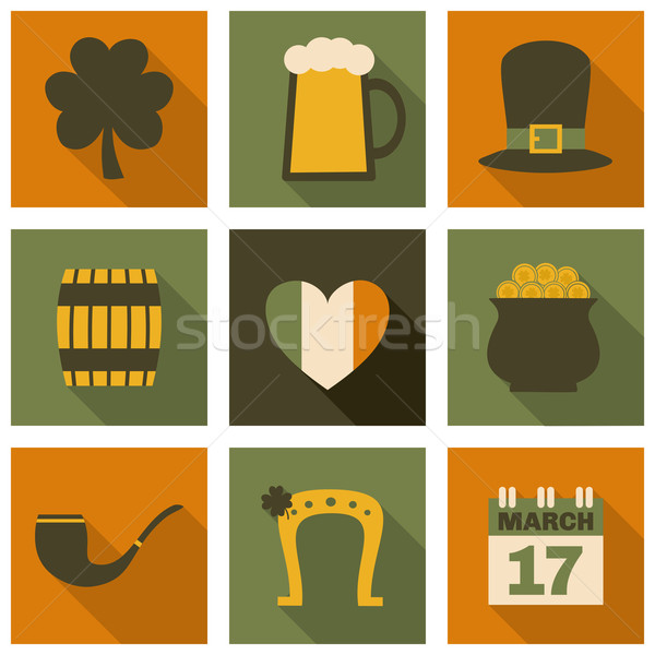 St. Patrick's Day Icons Collection Stock photo © ivaleksa