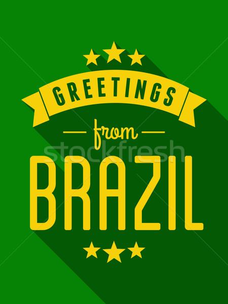 Retro Brazil Poster Stock photo © ivaleksa