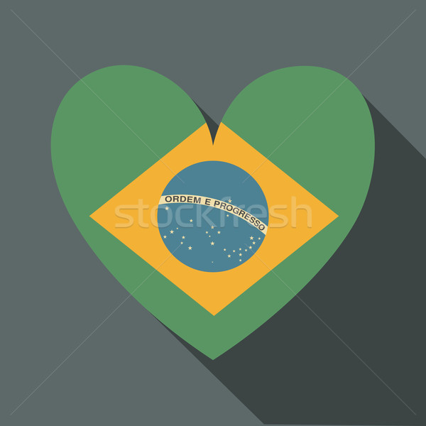 Brazilian Flag Icon Stock photo © ivaleksa