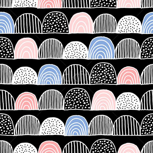手描き シームレス パターン ストックフォト © ivaleksa