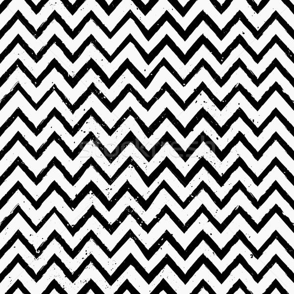 Hand Drawn Chevron Seamless Pattern Stock photo © ivaleksa
