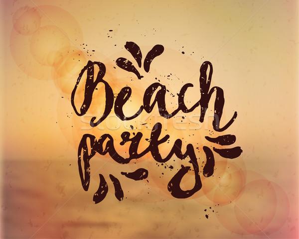 Beach Party Hand Lettered Design Stock photo © ivaleksa