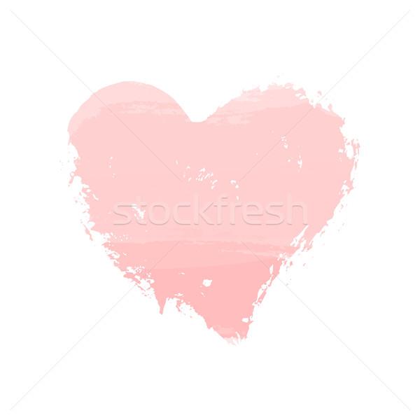 акварель сердце икона рисованной изолированный белый Сток-фото © ivaleksa