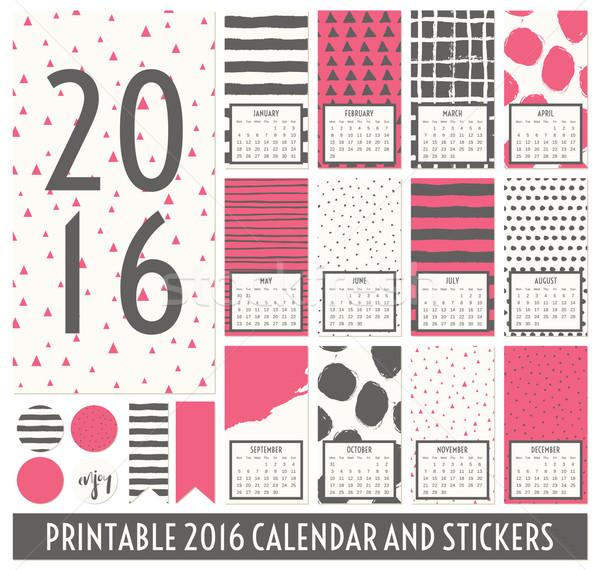 2016 Printable Calendar Stock photo © ivaleksa
