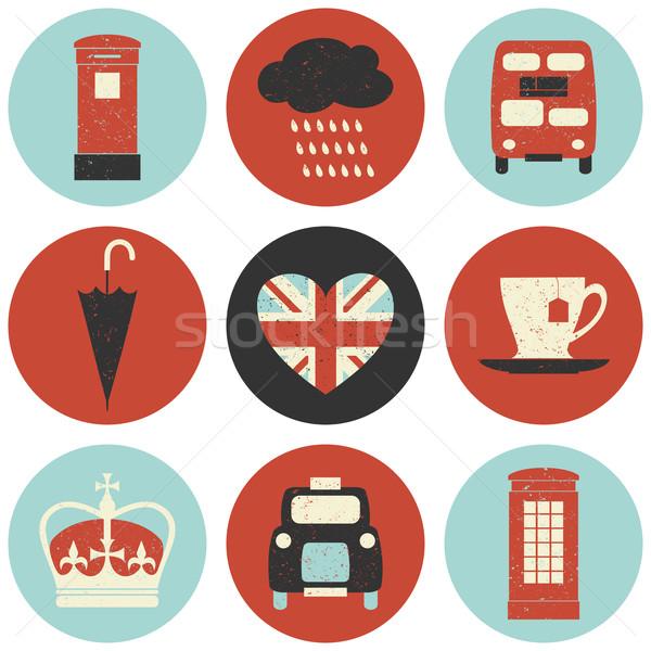 ロンドン アイコン コレクション セット 9 デザイン ストックフォト © ivaleksa